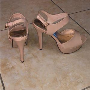 Brand New—Blush pink platform heels.